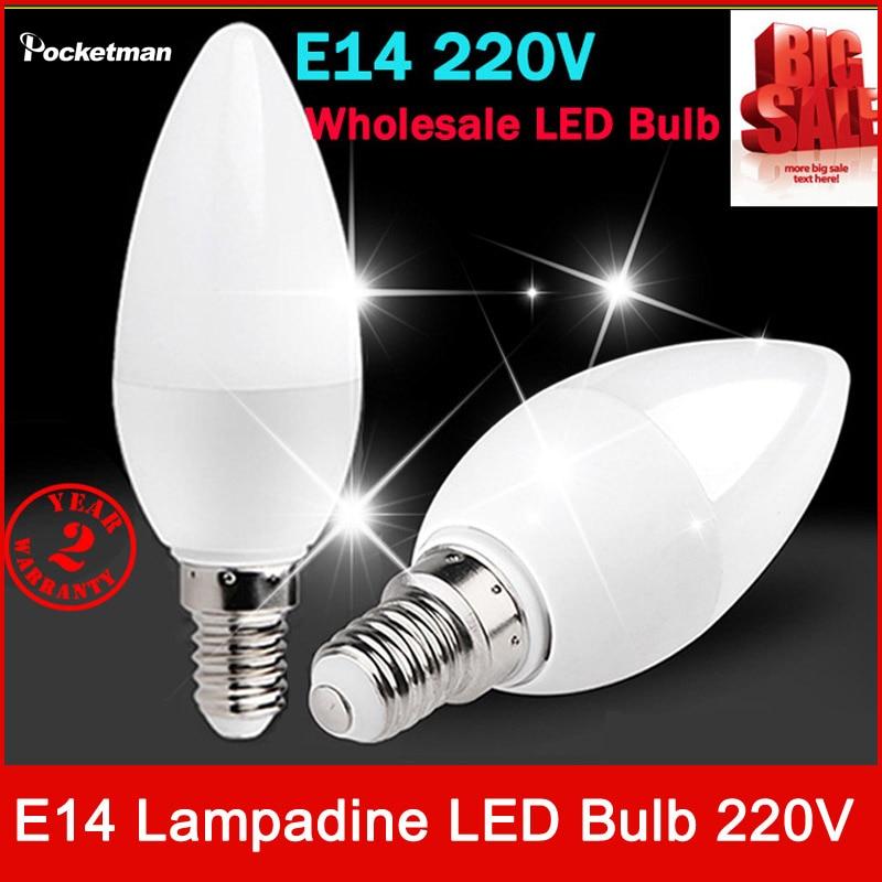 Free Shipping! 1PCS/Lot LED Candle Light 2835SMD Bulb Lamp High Brightness  E14 AC220V 230V 240V Cold White/Warm White