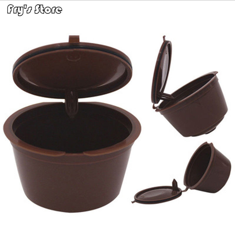 Fry's Store Professional Refillable Coffee Filter 4X5.4cm 12g Sweet Taste Reusable Coffee Capsule Plastic PP Basket Dolce Gusto