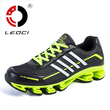 LEOCI 2016 New Running Shoes For Men Breathable Damping Mens Runners Sport Shoes Zapatillas Hombre Running Sneakers Size 39-44