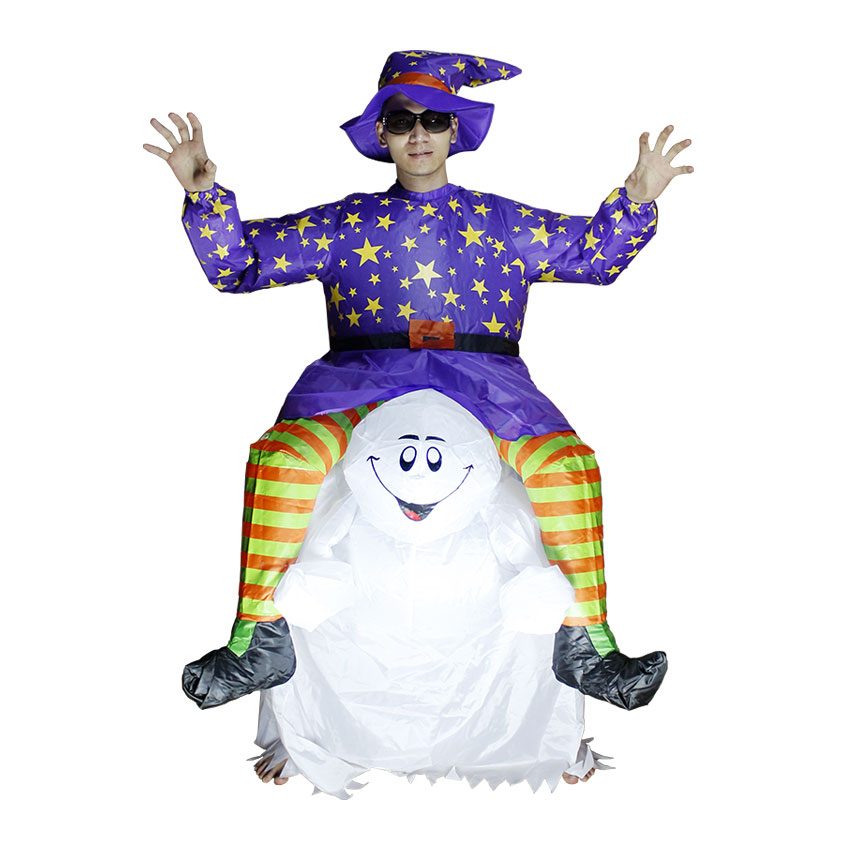 inflatable suit rider on devil ghost costumes blow up scary halloween costumes party club men women funny suits one size unisex on alibaba