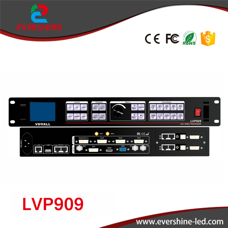VDWALL Newest HD LED video Wall processor LVP909 Support Indoor and Outdoor LED Big Display wavelets processor