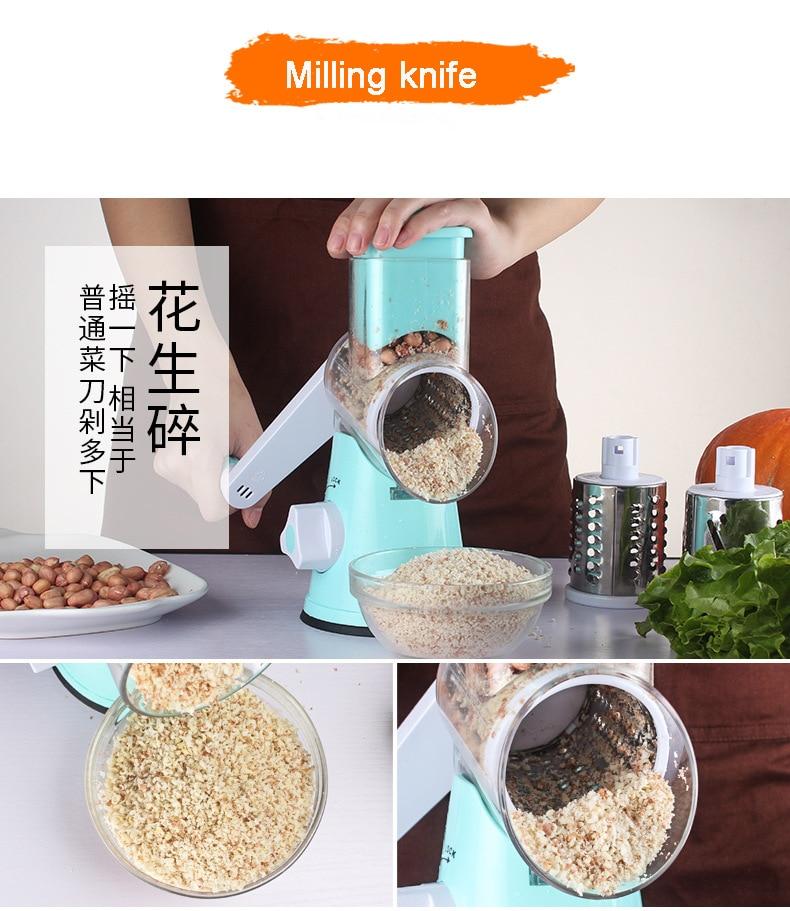 HTB1YpYWdYrpK1RjSZTEq6AWAVXa0 Food Processor Blender Vegetable Cutter Round Mandoline Slicer Potato Carrot Grater Slicer Chopper Blades Kitchen Tool