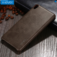 For Sony XA Case X Level Vintage Cowboy Ultra Thin Soft Luxury Leather Phone Back Protective