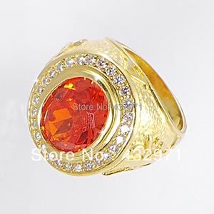 Image 1 - 925 sterling top grade zirconia bishop ring 2016 fashion  luxury crytal Man ring cool finger ring for man