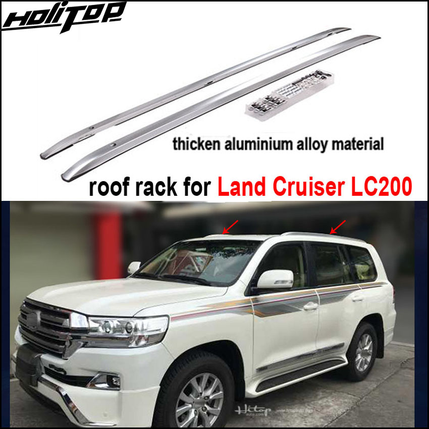 Match for Toyota Land Cruiser 200 LC200 roof rail roof rack roof bar thicken aluminum alloy