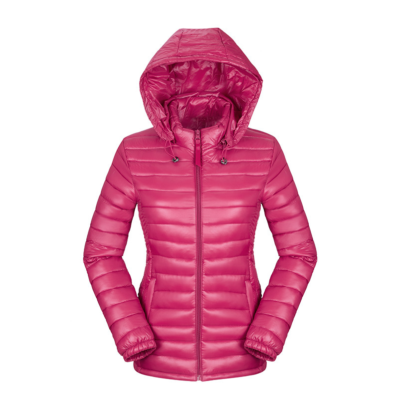 YuWaiJiaRen Winter Jacket Women Thin Ultra Light Warm Removable Hooded Cotton-padded   Parka   Zipper Solid Fashion Casual Coat