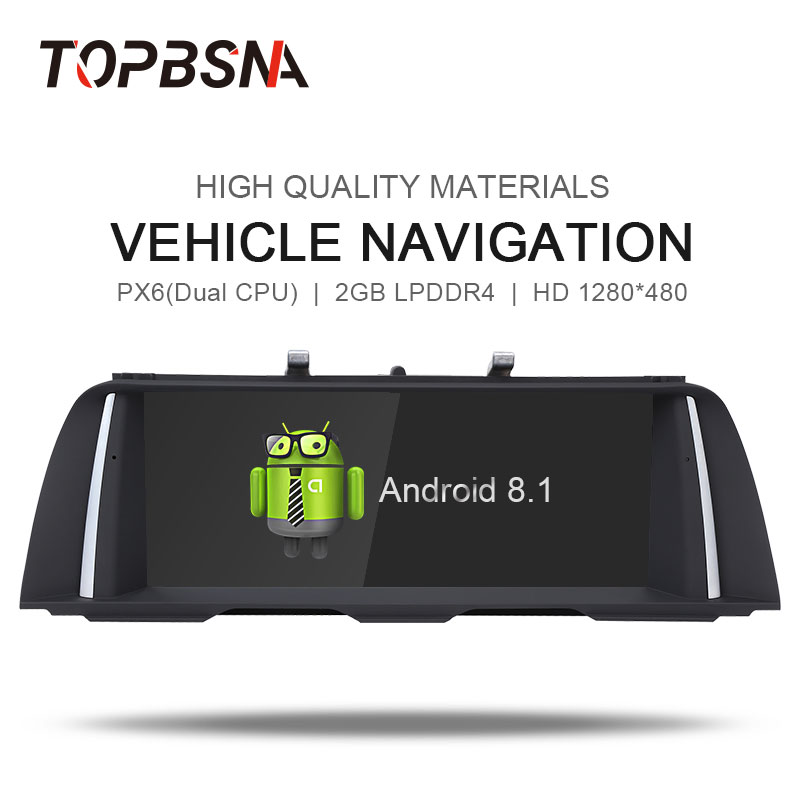 TOPBSNA Android 8.1 Car DVD Player For BMW 5 Series F10/F11 2013-2016 Original NBT System Audio GPS Stereo Auto WIFI BT Radio FM