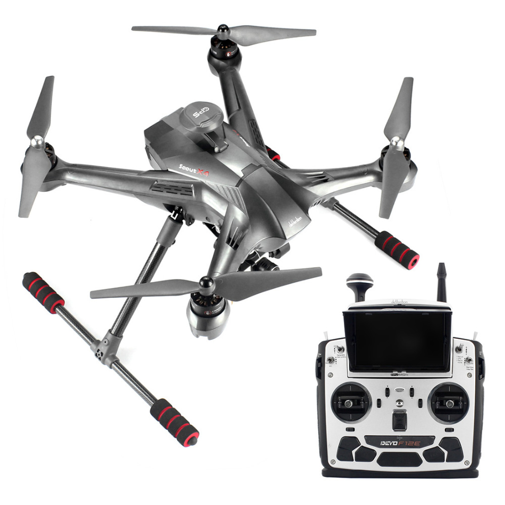 Walkera Scout X4 GPS RC Quadcopter Devo F12E ILook+ WHITE FPV2 RTF Support Ground Station F10495 игрушка на радиоуправлении walkera h500 rtf devo f12e g 3d ilook fpv cb86plus gps tali h500