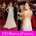 Тяжелое Вышитый Бисером Miley Cyrus Одеваются Academy Awards 2010