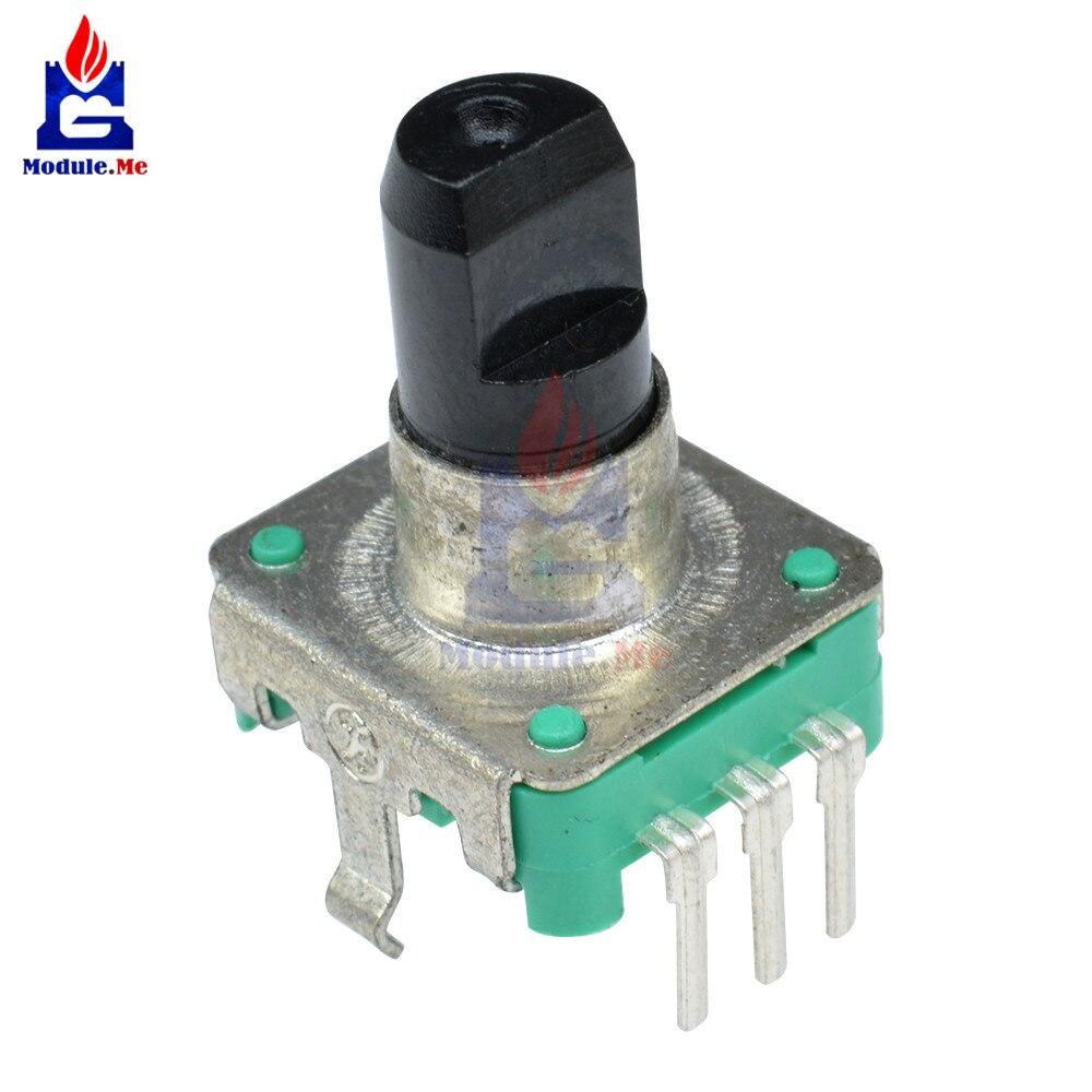 360 Angle Degree Rotary Encoder EC12 Audio Digital Potentiometer 15mm Handle DC 5V 10mA 20 Pulse for PIC Microcontroller Arduino