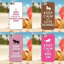 Oedmeb TPU Cases Fundas For Samsung Galaxy A3 A5 A7 J1 J3 J5 J7 S5 S6 S7 S8 S9 edge Plus 2016 2017 Keep Calm And Love Horses(China)