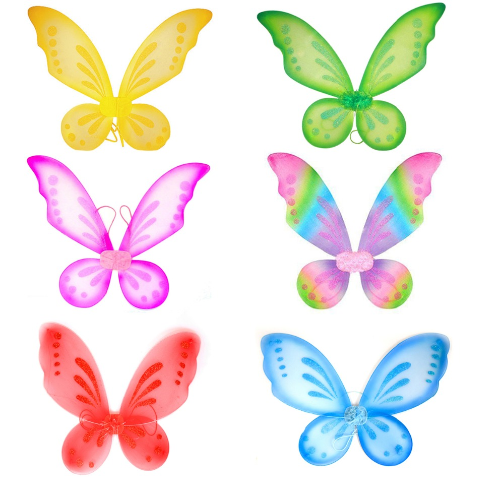 1pc Butterfly Fairy Wings Dress Up Wings Birthday Party Favor Accessory Girls Butterfly Costume Fairy Halloween Costume Apparel