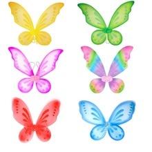 1pc Butterfly Fairy Wings Dress Up Wings Birthday Party Favor Accessory Girls Butterfly Costume Fairy Halloween Costume Apparel butterfly wings виброкольцо для пениса 5781180000