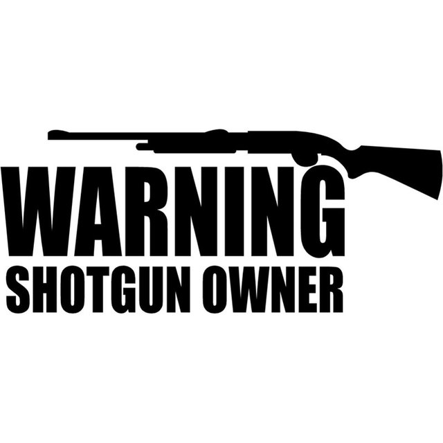 16cm6 8cm warning shotgun owner decal funny car stickers and decals car window sticker