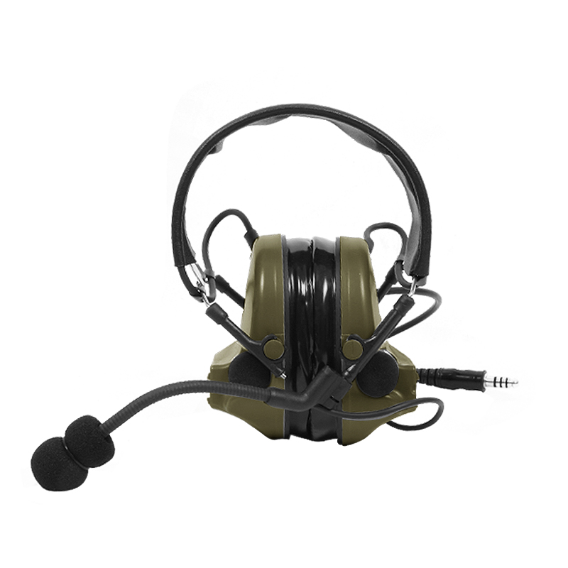 Tac Sky Comtac Ii Silicone Earmuff Version Noise Reduction Pickup Headset  Fg