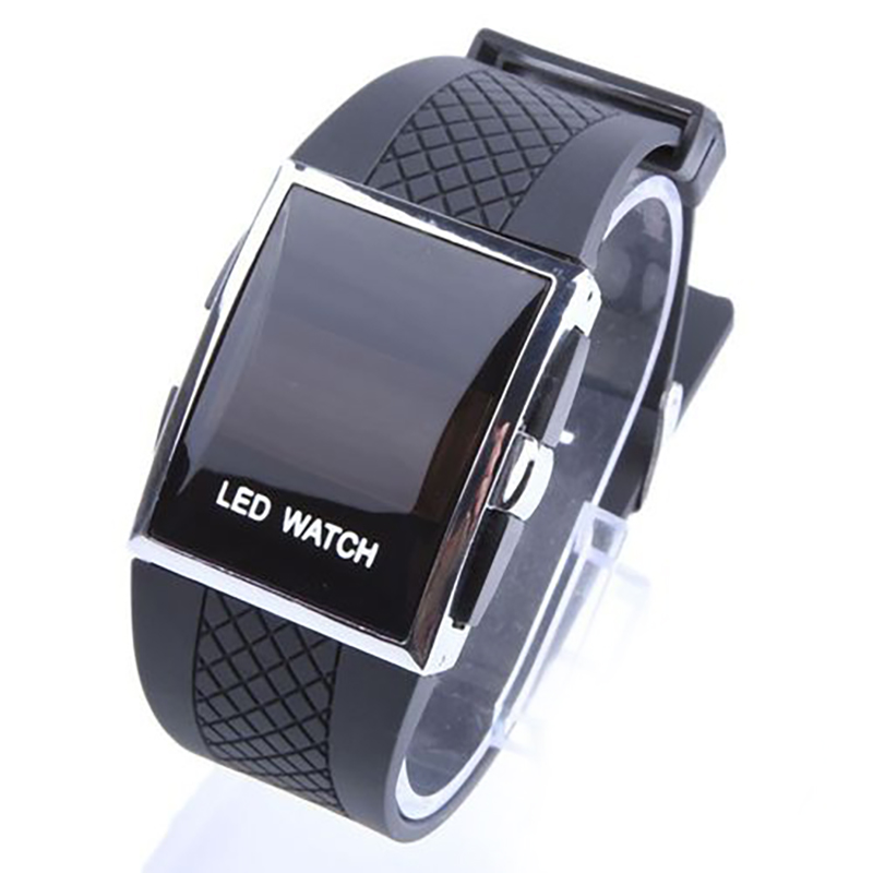 Men Watch LED Design Wristwatch Fashion Casual Sport Watches With Silicone Band Best Gift For Men