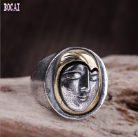 925 sterling silver jewelry personality silver ring for Thai silver man ring smiling girl ring