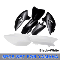 6Pcs Motorcycle ABS Plastic Cover Fairings Kit Front Rear for Fender & Tank Shrouds & Side Number Plates For YAMAHA TTR 50 TTR50