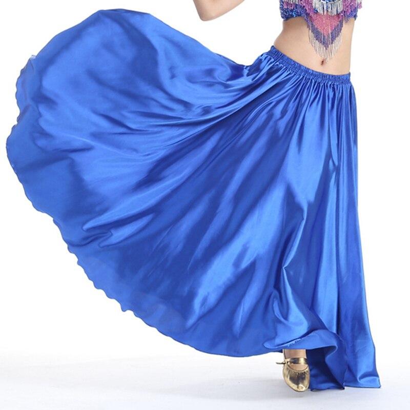 8b2047476fa572 Goedkope 16 Kleuren Professionele Vrouwen Buikdansen Kleding Volledige  Cirkel Rokken Flamenco Rokken Plus Size Satijn Buikdans Rok in Goedkope 16  Kleuren ...