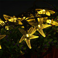 20 LED Garden Party Luces de Hadas Starfish Con Pilas Luces de la Secuencia
