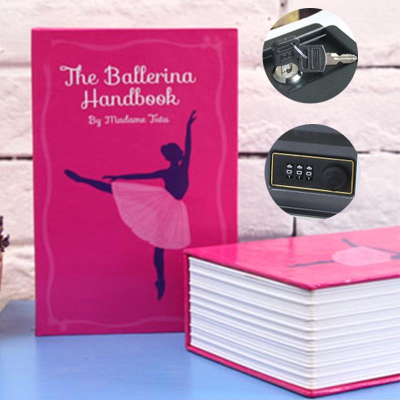 Hidden-Safe Box Safe Box Strongbox Steel Simulation Book Home Office Money Phone Safe Storage Box Combination Lock 18x11.5x5.5cm