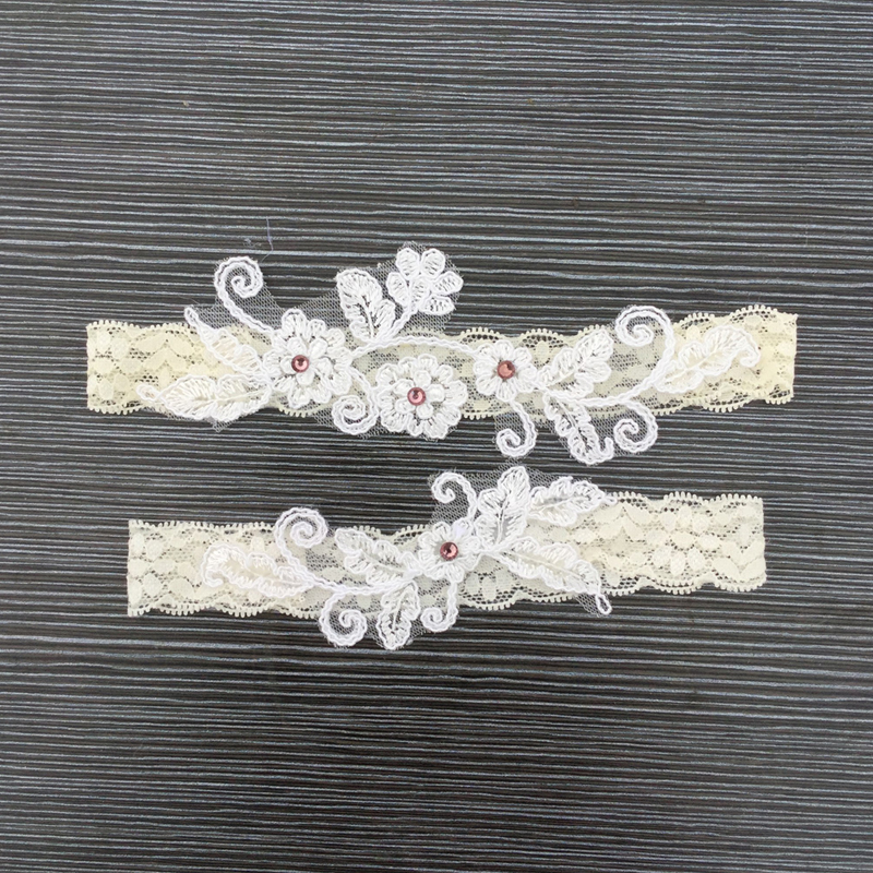 2Pcs/set New Wedding Garter Bride Garters Lace Flowers