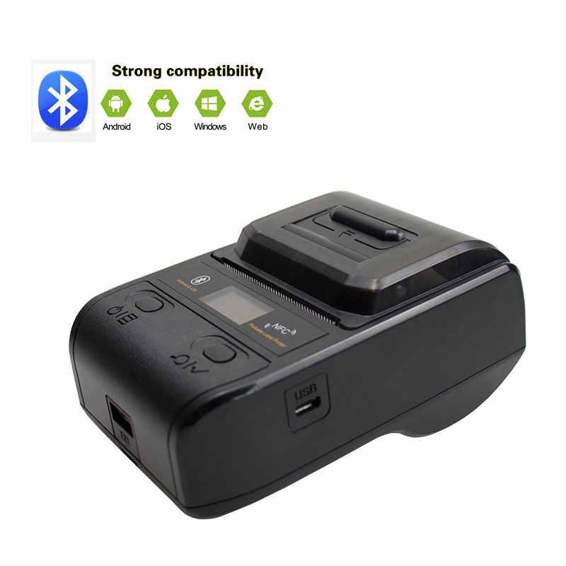 NETUM Bluetooth Nhiệt Máy In Nhãn Mini Di Động 58Mm Máy In Hóa Đơn Nhỏ Cho Điện Thoại Di Động Ipad Android/IOS NT-G5