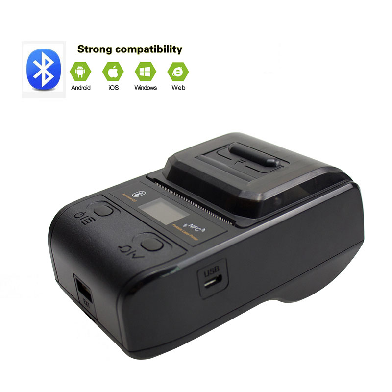 NETUM Bluetooth Thermal Label Printer Mini Portable 58mm Receipt Printer Small for Mobile Phone Ipad Android iOS NT G5 in Printers from Computer Office