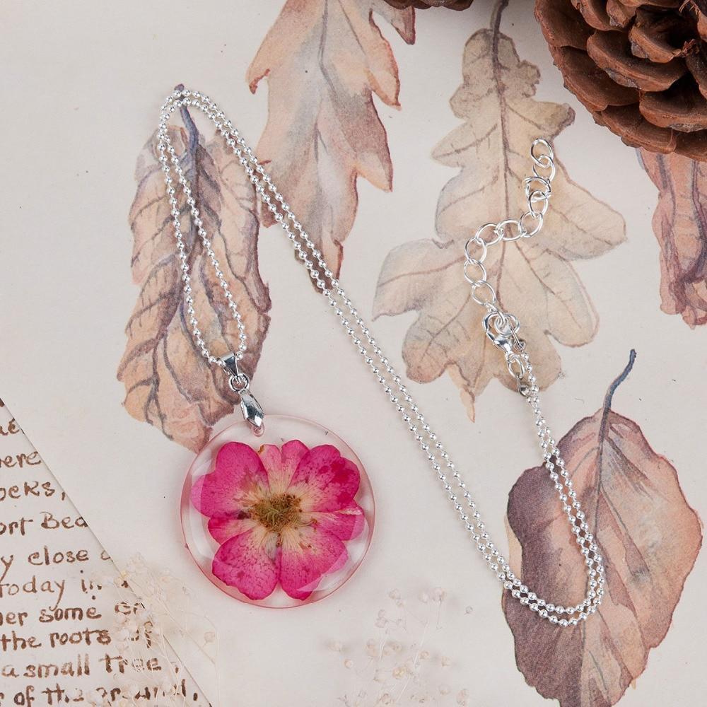 8 MEVSIM El Yapımı Boho Şeffaf Reçine Kurutulmuş Çiçek Papatya - Kostüm mücevherat - Fotoğraf 5