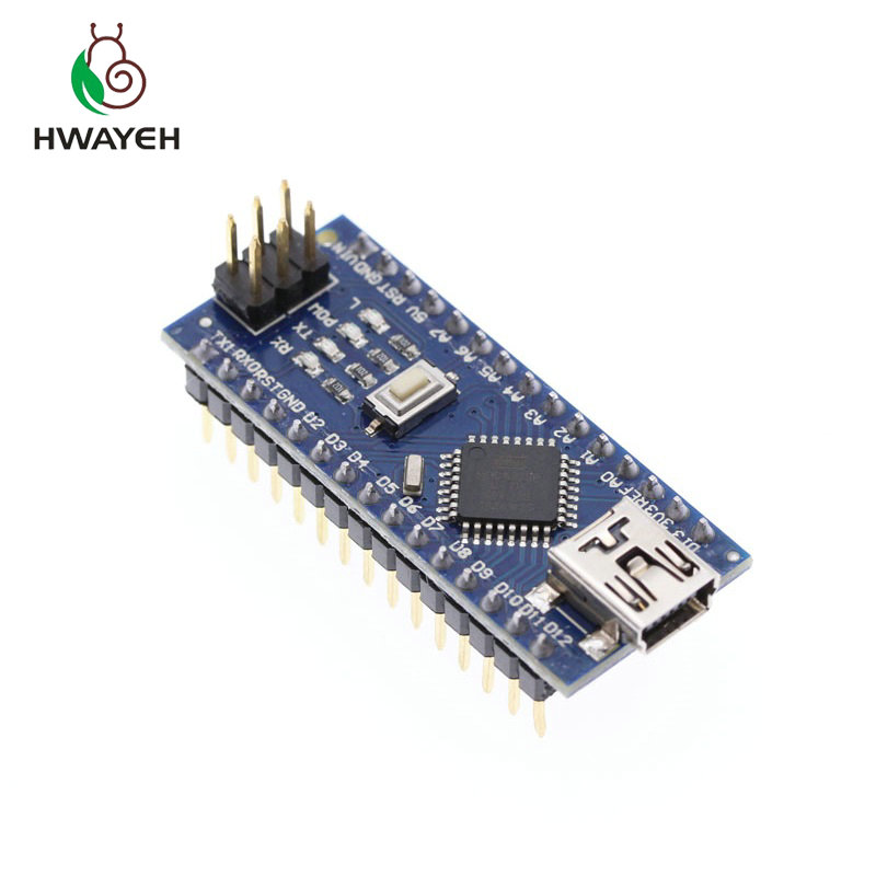 1PCS MINI USB Nano V3.0 ATmega328P CH340G 5V 16M Micro-controller Board For Arduino NANO 328P NANO 3.0