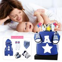 Newborn Sports Style Suit Innovative Styling Romper Shoes Sportswear Suit Autumn Infant Cotton Gift Box Pack Newborn Present