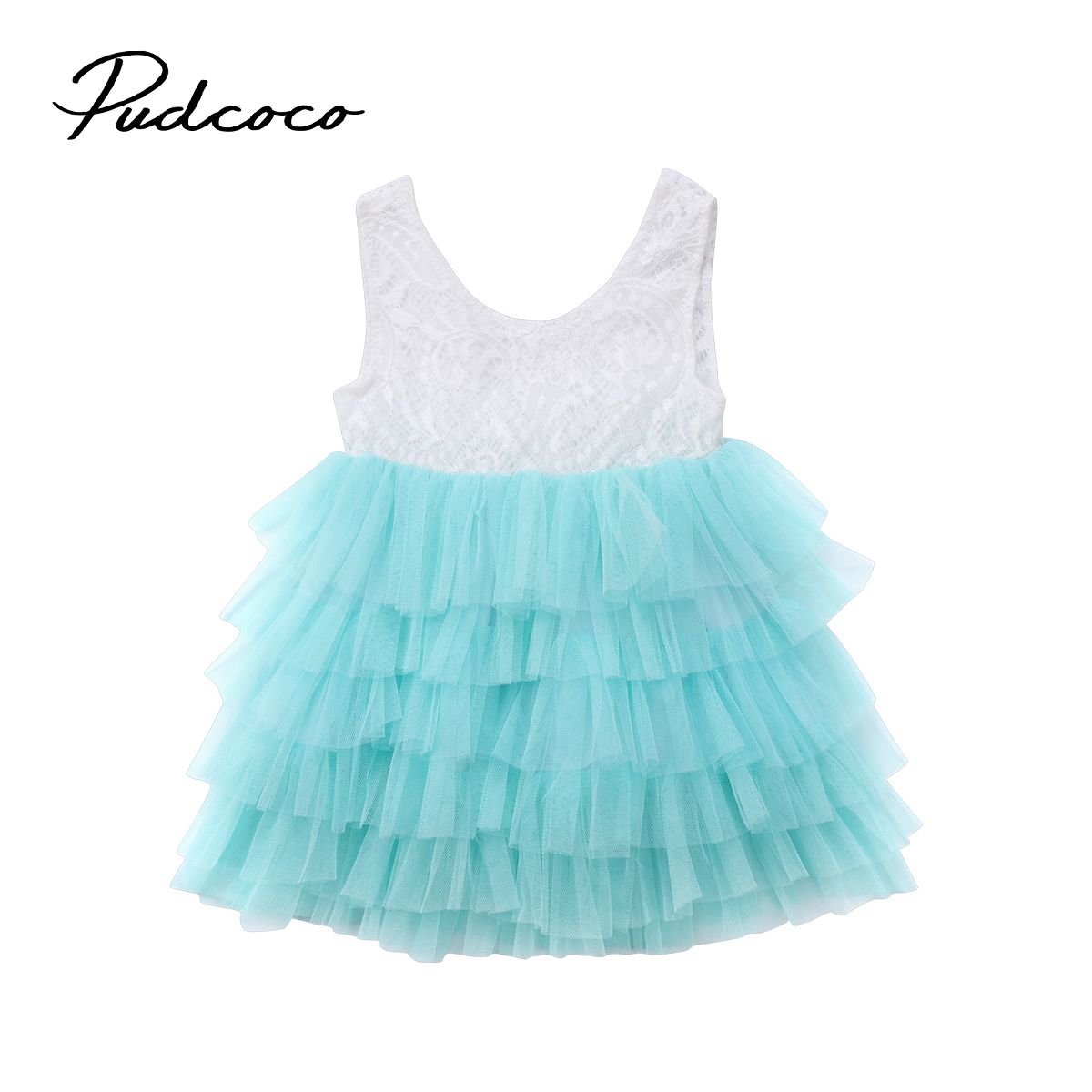 New Formal Kid Baby Girl Sleeveless Lace Tulle Tutu Dress Party Pageant Wedding Princess Backless Mesh Cake Dresses Vestidos hearted shape back summer new princess girl s lace christening white big bowknot mesh sleeveless show performance formal dress