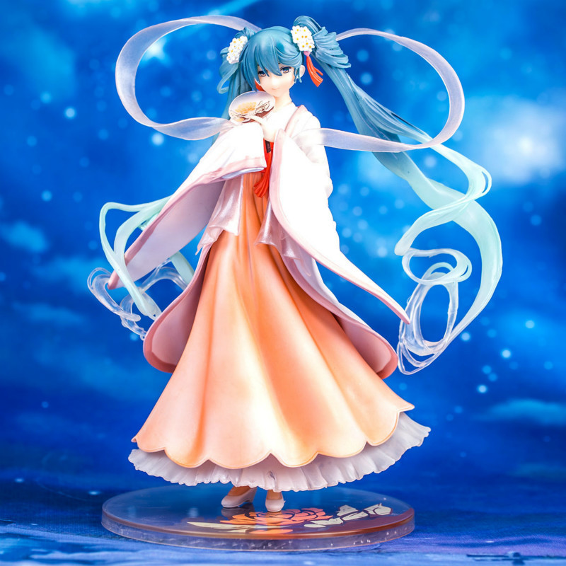 PVC Figure Figurine Toy 22CM NO BOX Pretty Anime Hatsune Miku Harvest Moon Ver