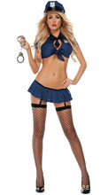 цена New 1 Set New Ladies Police Fancy Halloween Costume Sexy Cop Outfit Woman Cosplay Sexy Erotic Lingerie Police Costumes for Women