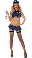 New 1 Set New Ladies Police Fancy Halloween Costume Sexy Cop Outfit Woman Cosplay Sexy Erotic