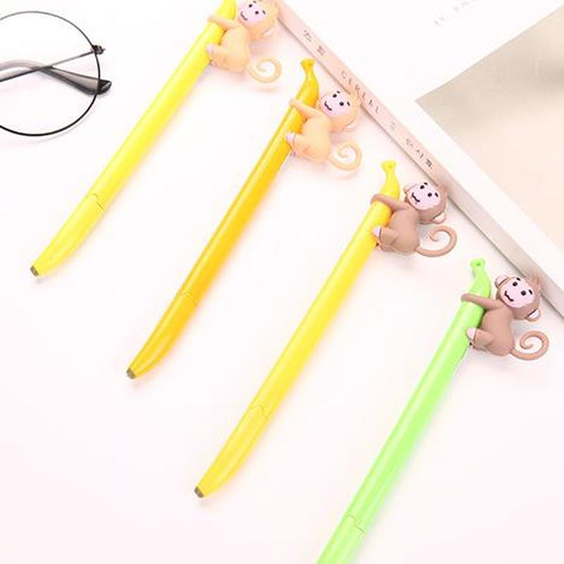 1pcs Monkey Gel Pen Cute Stationery 0.5mm Cute Pens Cartoon Animal Gel Pens Student Signature Black Pen Kawaii School Supplies