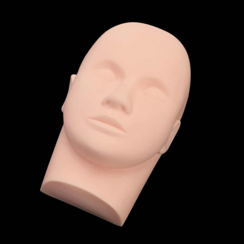 עיסוי Mannequin ראש שטוח עין פנים ריס ריס הארכת איפור עיסוק קוסמטי דגם מקצועי אימון ראשי כלי
