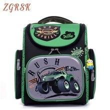 Children Carton 1-3 Grade Orthopedic Backpack School Bags For Boys Cars Children School Backpack For Boys Backpack Bagpack