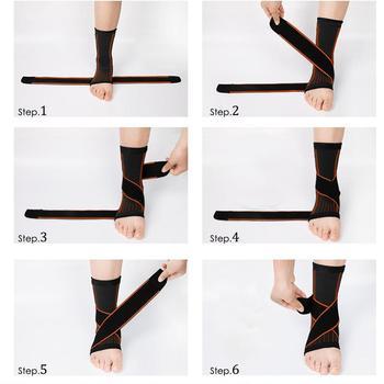 1 Pcs Pressurizable Bandage Ankle Support Protect Foot Basketball Football Badminton Anti Sprain Ankle Guard Warm Brace Nursing 2
