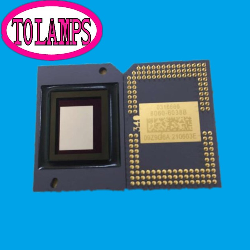 second-hand Projector DMD chip 8060-6038B 8060-6039B 8060-6139B 8060-6138B for Ben q NP110+ NP115+ projector dmd chip 8060 6038b 8060 6039b
