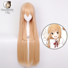 High Quality Himouto! Umaru-chan Doma Umaru Cosplay Wig Synthetic Hair Light Orange Long Straight Halloween Costume Play Wigs damir doma водолазки