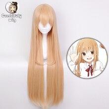 Высокое качество Himouto! Длинный парик для костюма на Хэллоуин, из синтетических волос