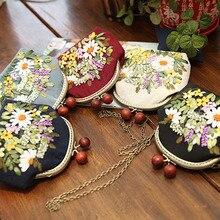 3D вышитая тесьма «сделай сам» сумочки, рукоделие Наборы крест цепная стежка сумка с обручем, ручной качели кошелек креативный подарок