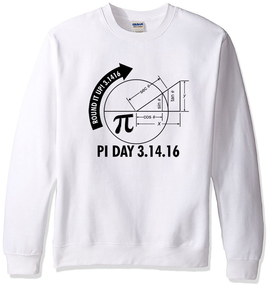 Sweatshirt 2019 spring winter hoody Pi Day 3.1416 Round It Up Math Graph STEM pattern men's sportswear hoodies men moletom k-pop