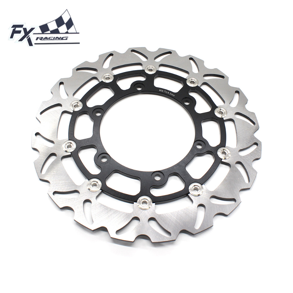 FX  Motorcycle 320mm Floating Front Brake Disc Rotor For Yamaha YZF1000 R THUNDERACE 1000CC BT BULLDOG 1100CC 2002-2006 floating front brake disc rotor for motorcycle yamaha yzf r1 yzf r6 yzf600r yzf1000r xv1600 xv1700 xv1900
