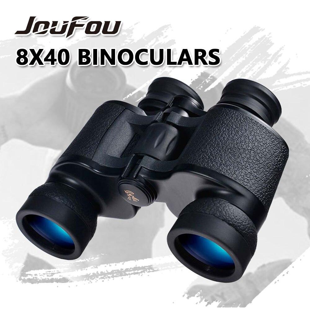 JouFou Phantom 8x40 or 10X50 BAK4 PORRO Prism System Telescope Comfortable 28mm Big Size Eyepiece Black Binoculars for Hunting phantom phantom ph2139