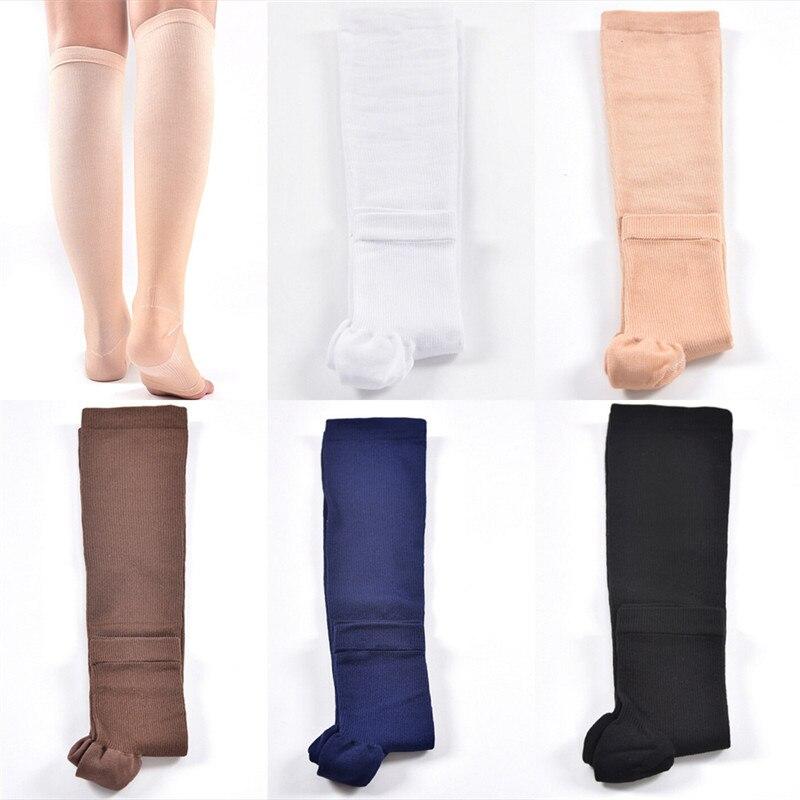 1-paire-niveau-de-compression-soutien-genou-haute-pointe-ouvert-varices-chaussettes-medical-elastique-sans-doigts-chaussettes