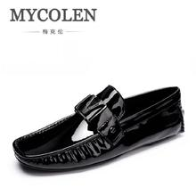 MYCOLEN British Style Mens Driving Shoes Luxury Brand Loafers Classic Designer Boat Men Black Casual shoes Plus Size 6-11