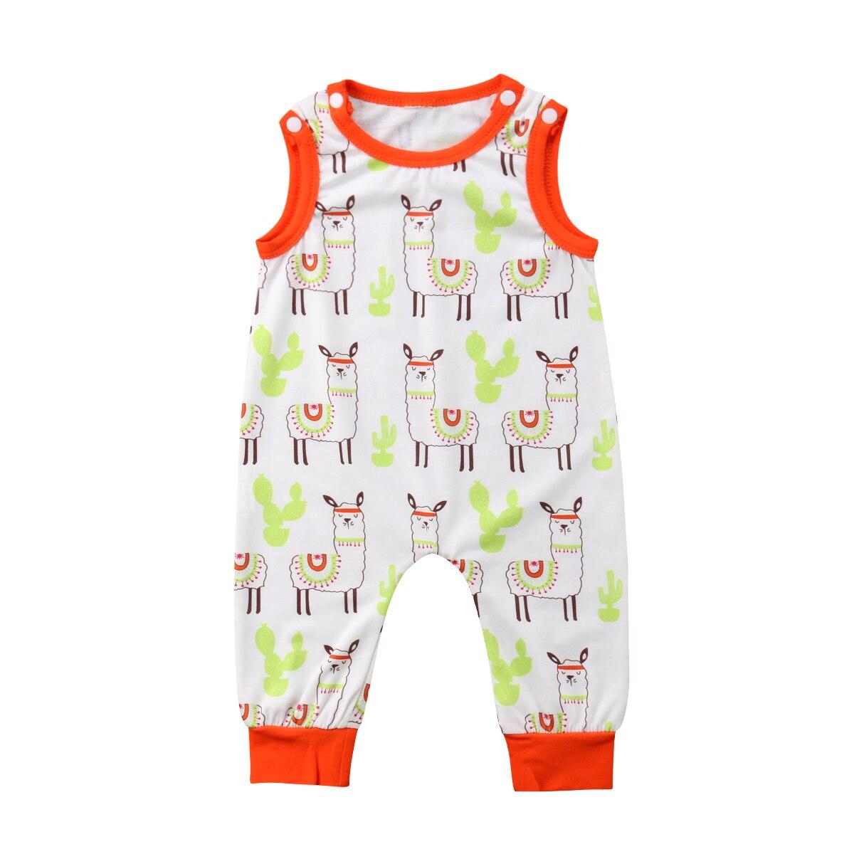 Милый младенческой Дети Одежда для маленьких мальчиков и девочек комбинезон без рукавов хлопок Повседневное комбинезоны наряды Bbay мальчик...