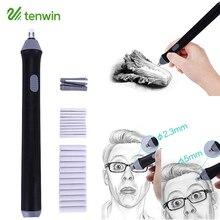 Kawaii Электрический ластик карандаш милый мини разминаемый резиновый заправка художественный электронный ластик для детей Канцтовары офисный школьный принадлежности